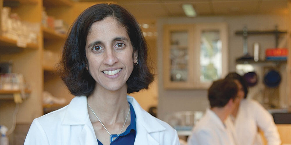 Dr. Tejal Desai, UCSF School of Pharmacy, is hopeful her lab's device will soon improve outcomes for glaucoma patients.