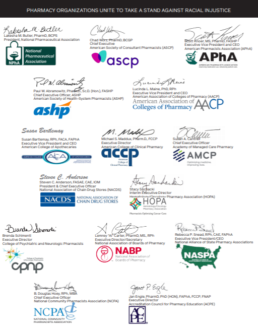 National Pharmacy Organizations Logos and Signatures