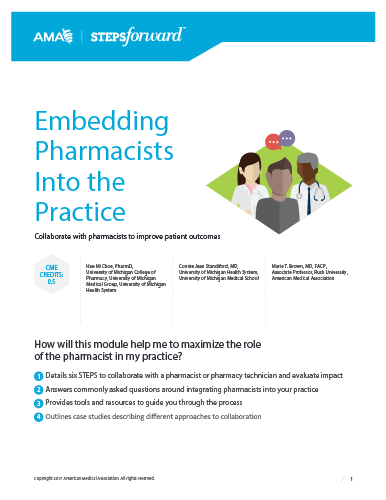 Embedding  Pharmacists Into the Practice - Module Guide.
