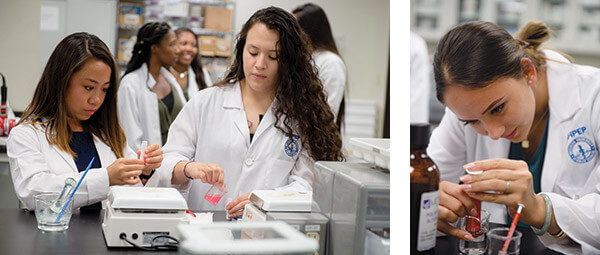 Students in lab at WesternU Summer Health Professions Education Program