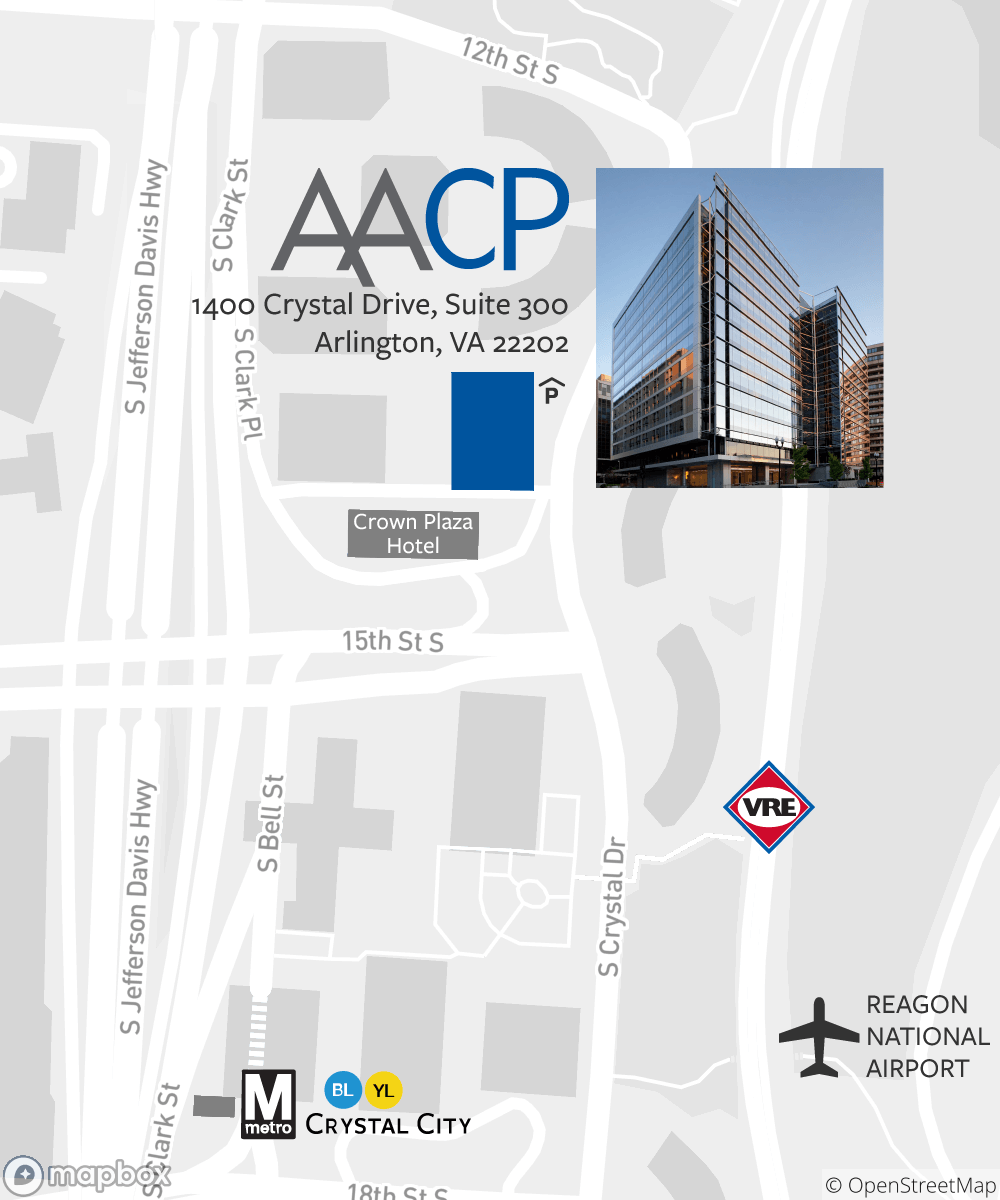 Map of Crystal City including AACP's office.
